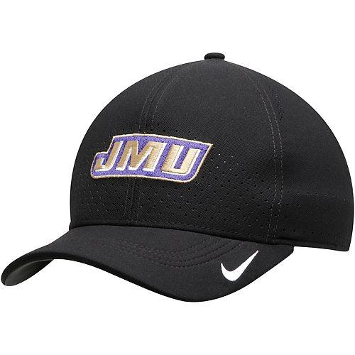 Men's Nike Black James Madison Dukes Sideline Coaches Classic 99 Performance Flex Hat