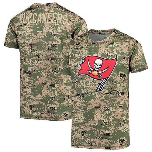 Youth Camo Tampa Bay Buccaneers Alpha Sublimated Dri-Tek T-Shirt