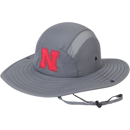 Men's adidas Gray Nebraska Cornhuskers Safari Hat
