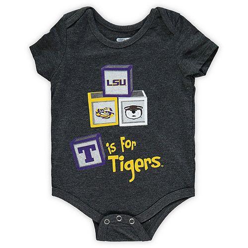 Girls Newborn & Infant Colosseum Black LSU Tigers Core Biggest Fan Bodysuit
