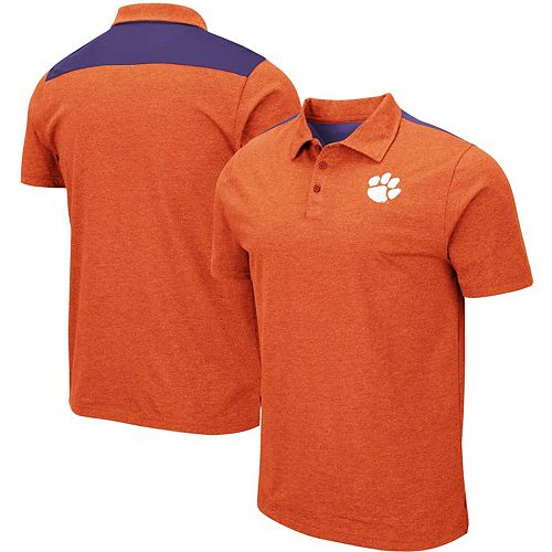 Men's Colosseum Orange Clemson Tigers Big & Tall I Will Not Polo