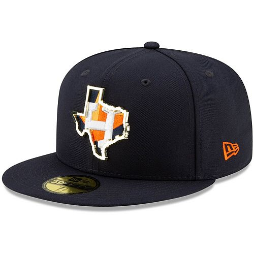 Men's New Era Navy Houston Astros Metal and Thread State 59FIFTY Fitted Hat