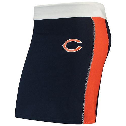 Women's Refried Tees Navy Chicago Bears Short Skirt