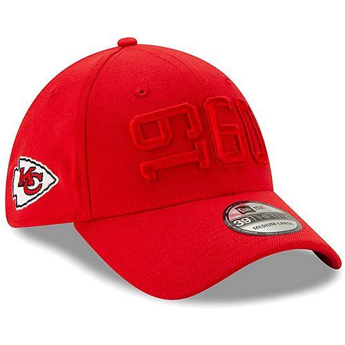 Men's New Era Red Kansas City Chiefs 2019 NFL Sideline Color Rush 39THIRTY Flex Hat