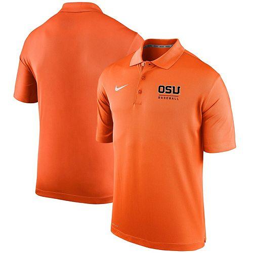 Men's Nike Orange Oregon State Beavers Varsity Baseball Performance Polo