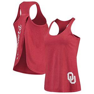Women's Crimson Oklahoma Sooners Vintage Charm Open Back Tank Top