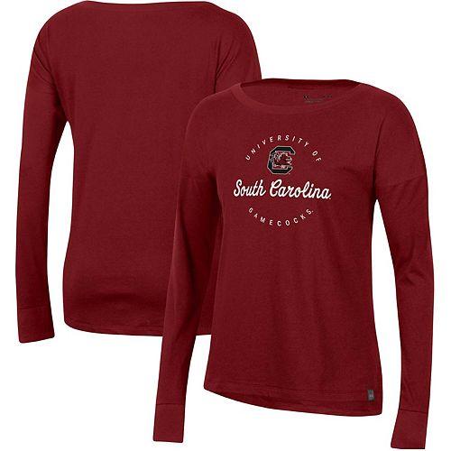 Women's Under Armour Cardinal South Carolina Gamecocks Logo Performance Long Sleeve T-Shirt