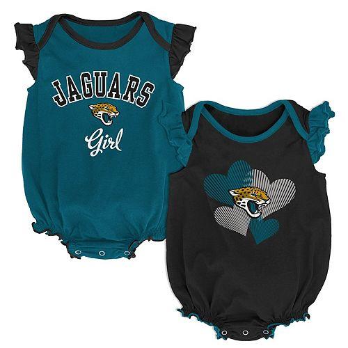 Girls Infant Black/Teal Jacksonville Jaguars Homecoming Celebration 2-Piece Bodysuit Set
