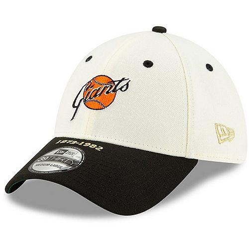 Men's New Era White/Black San Francisco Giants Timeline Collection 39THIRTY Flex Hat