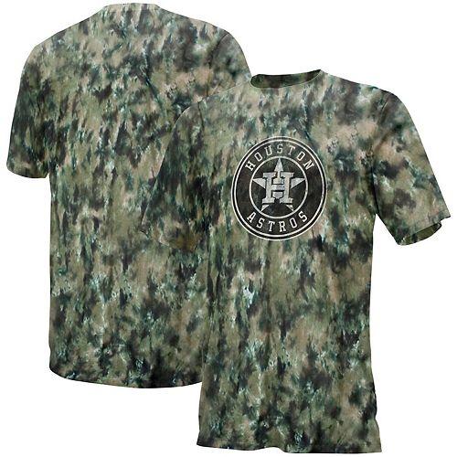 Men's Black/Tan Houston Astros Camo T-Shirt