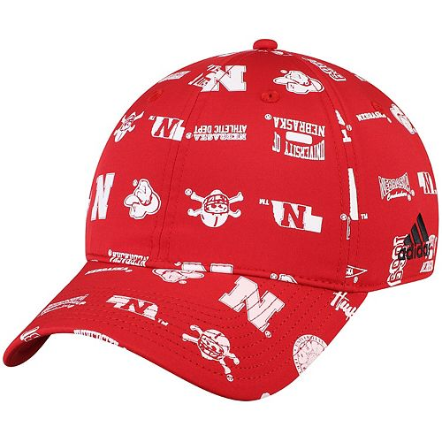 Men's adidas Scarlet Nebraska Cornhuskers Thrift Store Special Adjustable Hat