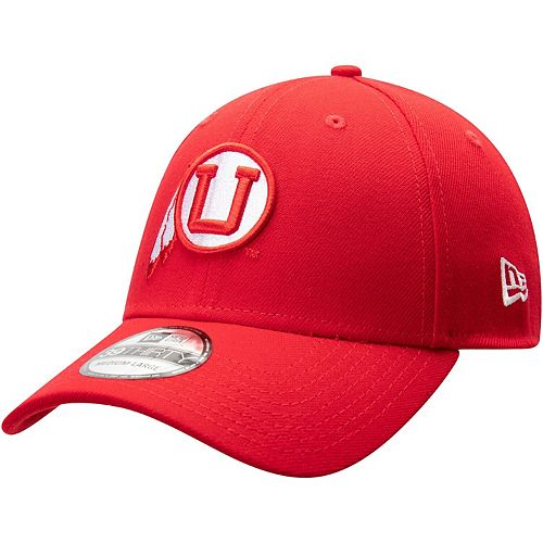 Men's New Era Red Utah Utes Throwback 39THIRTY Flex Hat