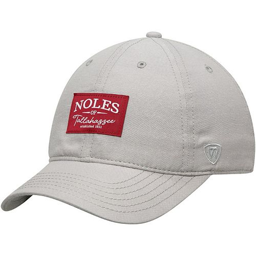 Men's Top of the World Gray Florida State Seminoles Chambray Ante Adjustable Hat