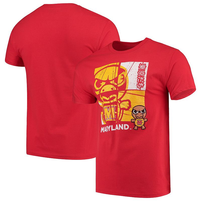 UPC 193495212642 product image for Men's Red Maryland Terrapins Tokyo Dachi 2.0 T-Shirt, Size: Large | upcitemdb.com