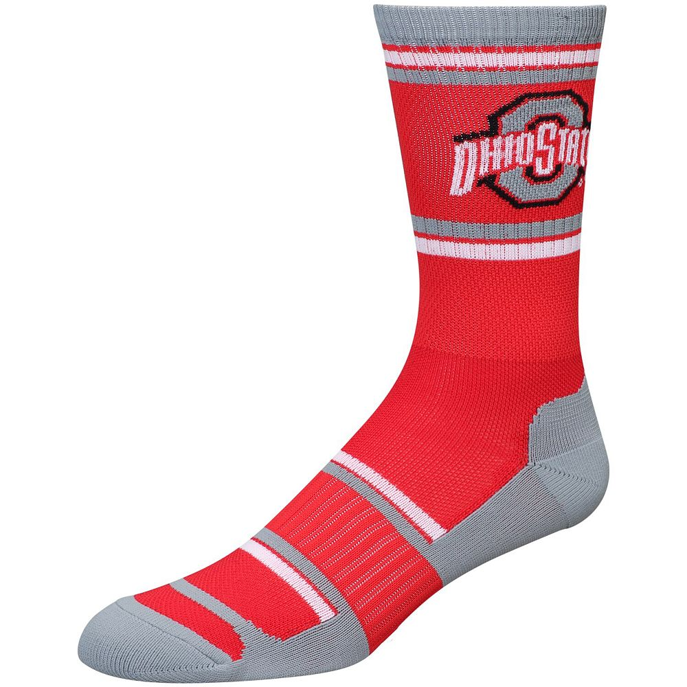 Men's For Bare Feet Ohio State Buckeyes Performer II Crew Socks