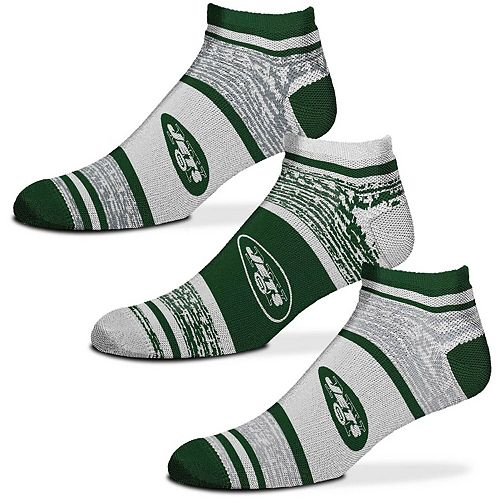 Women's For Bare Feet New York Jets 3-Pack Triplex Heathered Socks Set