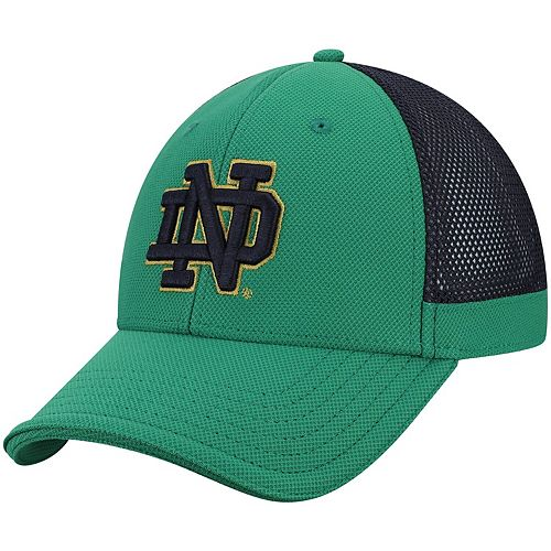 Men's Under Armour Green Notre Dame Fighting Irish Team Logo Sideline Blitzing Accent Adjustable Hat