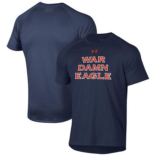 Men's Under Armour Navy Auburn Tigers War Damn Eagle Slogan Tech Performance T-Shirt