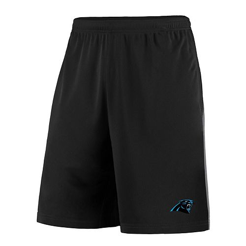 Men's Majestic Black/Gray Carolina Panthers Crossbar Shorts