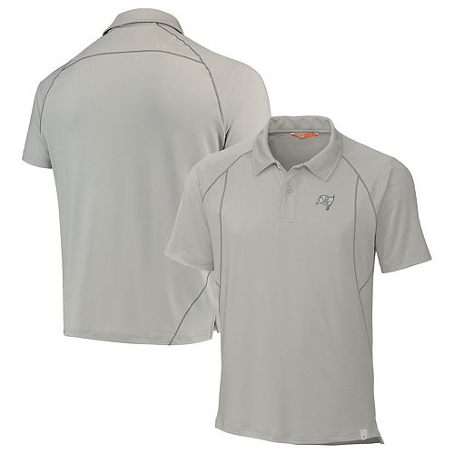 Tampa Bay Buccaneers CBUK by Cutter & Buck Grip Raglan Polo - Gray