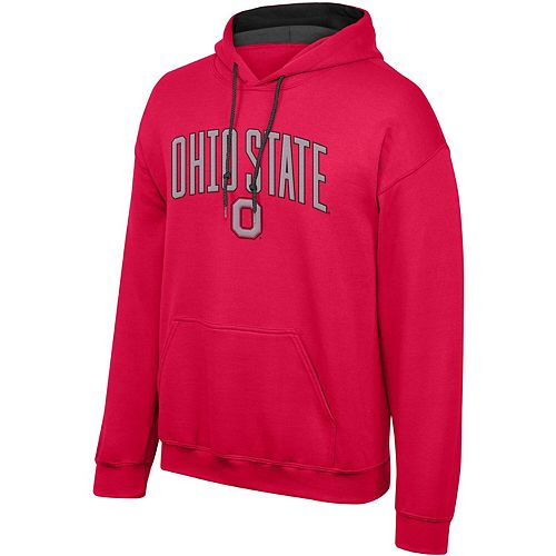 Men's Scarlet Ohio State Buckeyes Modern Arch Pullover Hoodie