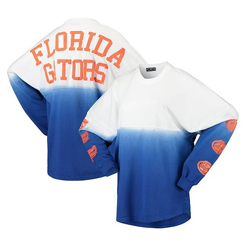 Women's Royal Florida Gators Sleeve Repeat Logo Long Sleeve T-Shirt