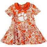 Girls Infant Colosseum Orange Clemson Tigers Sasha Floral Dress