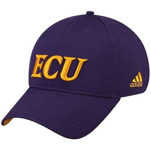 Men's adidas Purple ECU Pirates Sideline Coaches Adjustable Hat