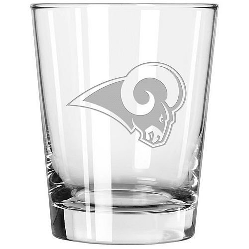 Los Angeles Rams 15oz. Etched Double Old Fashioned Glass