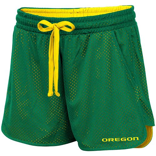 Women's Colosseum Green Oregon Ducks Shoes First Mesh Shorts