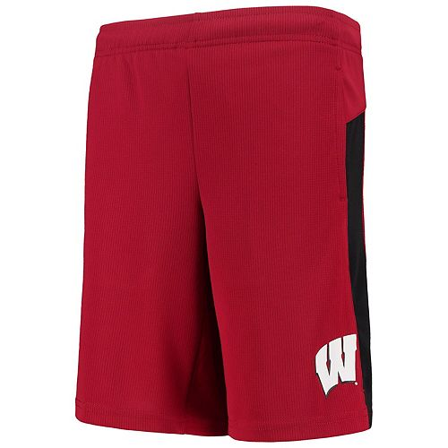 Youth Red Wisconsin Badgers Grand Mesh Shorts