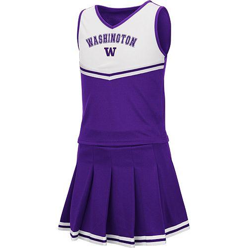 Girls Youth Colosseum Purple Washington Huskies Pinky Cheer Dress