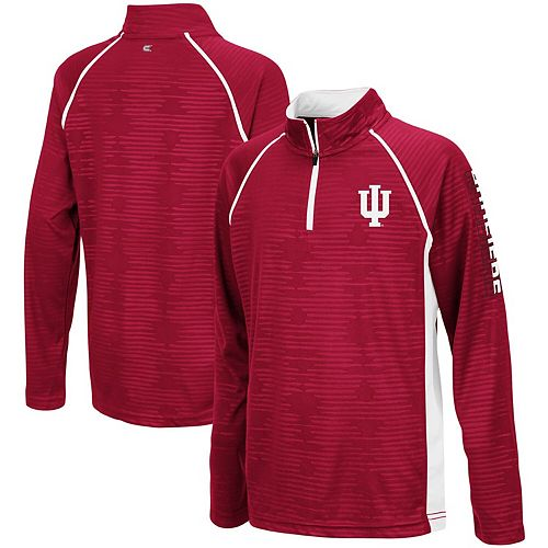 Youth Colosseum Crimson Indiana Hoosiers Mime Raglan Quarter-Zip Pullover Sweatshirt
