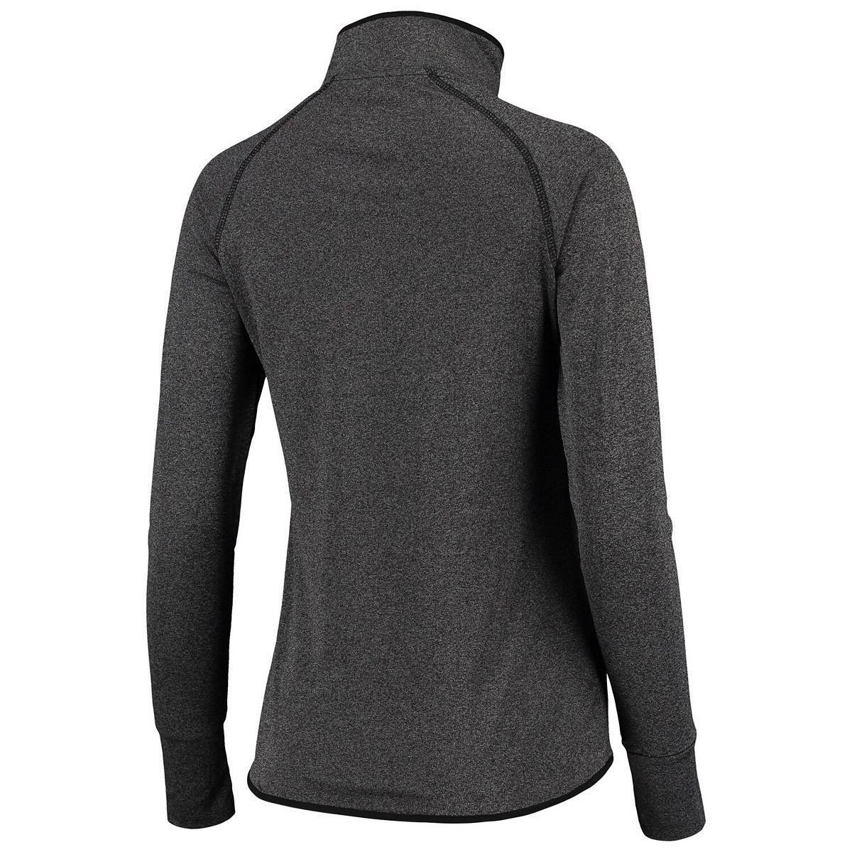 Women's Colosseum Heathered Black Michigan State Spartans Bailey Core Quarter-Zip Pullover Jacket bTpSx