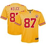 Youth Nike Travis Kelce Yellow Kansas City Chiefs Inverted Game Jersey