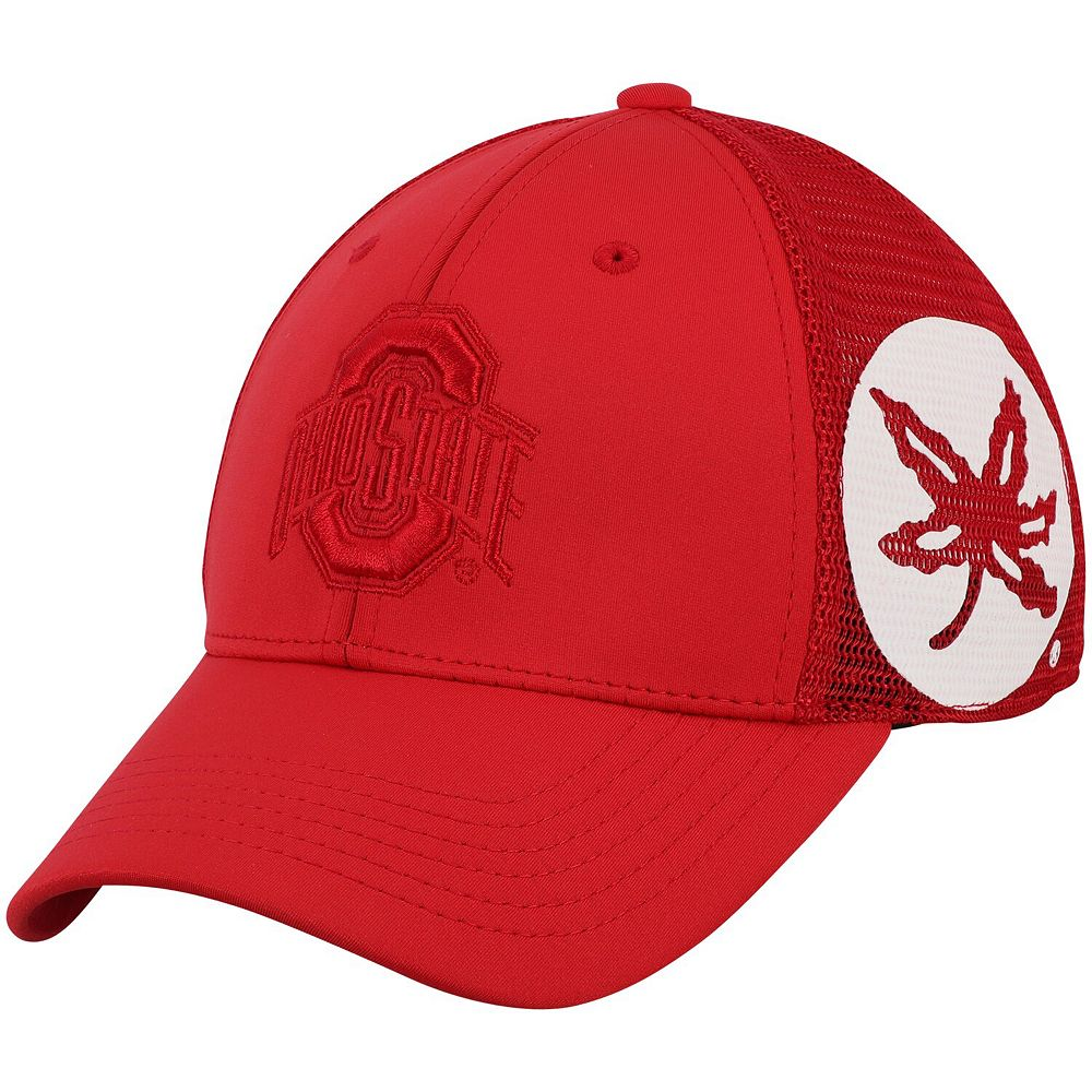 Men's Top of the World Scarlet Ohio State Buckeyes Dayblaster Flex Hat