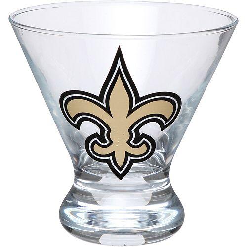 New Orleans Saints Martini Glass