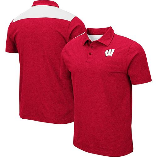Men's Colosseum Red Wisconsin Badgers Big & Tall I Will Not Polo