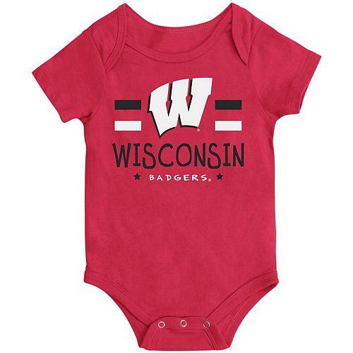 Newborn & Infant Colosseum Red Wisconsin Badgers Core Biggest Fan Bodysuit