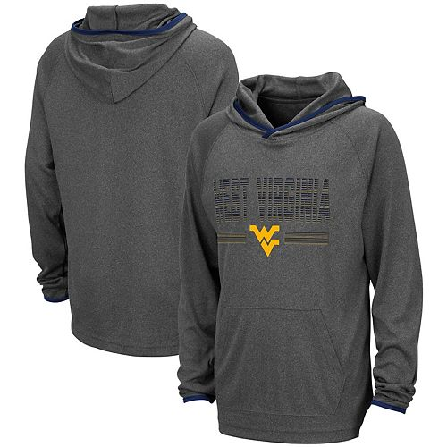 Youth Colosseum Heathered Charcoal West Virginia Mountaineers Narf Raglan Pullover Hoodie