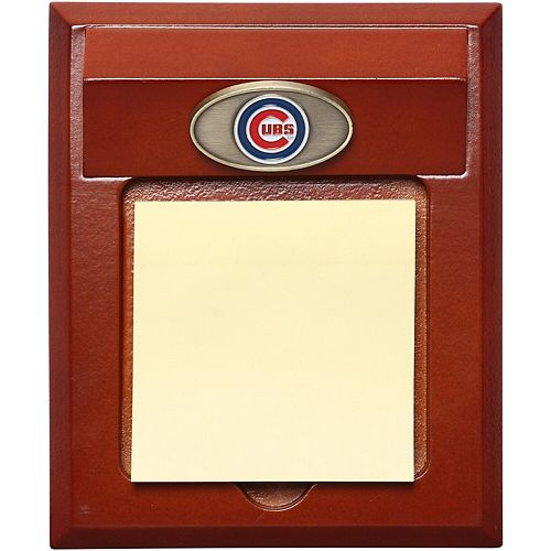 Chicago Cubs Wooden Logo Memo Pad Holder