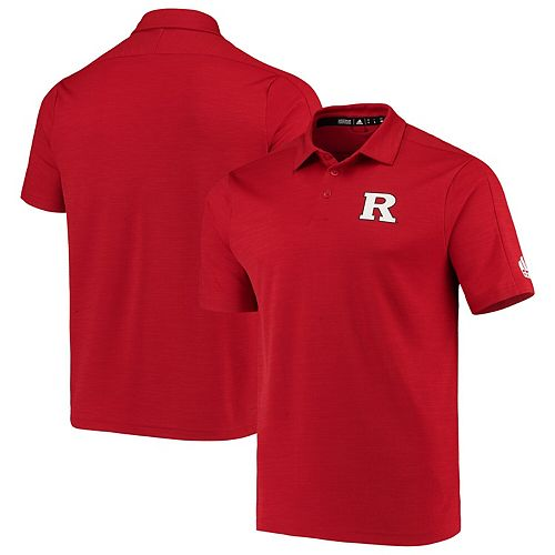 Men's adidas Scarlet Rutgers Scarlet Knights 2019 Coaches Sideline Game Mode climalite Polo