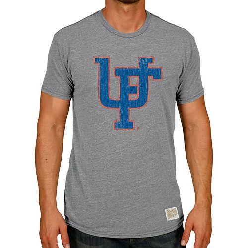 Men's Original Retro Brand Heather Gray Florida Gators Vintage UF Interlock Tri-Blend T-Shirt