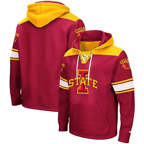 Men's Colosseum Cardinal Iowa State Cyclones 2.0 Lace-Up Pullover Hoodie