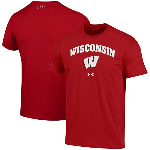 Men's Under Armour Red Wisconsin Badgers Arched Performance T-Shirt