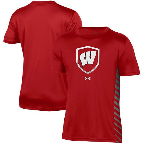 Youth Under Armour Red Wisconsin Badgers Performance Novelty T-Shirt