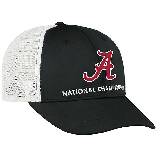 Men's Top of the World Black Alabama Crimson Tide College Football Playoff 2019 National Championship Bound Trucker Adjustable Hat