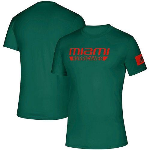 Men's adidas Green Miami Hurricanes 2019 Sideline Practice climalite Creator T-Shirt