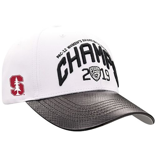 Men's Top of the World White/Black Stanford Cardinal 2019 PAC-12 Women's Basketball Conference Tournament Champions Adjustable Hat