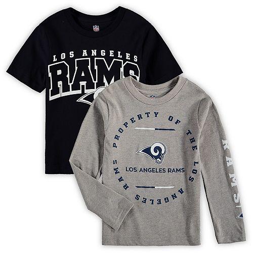 Preschool Navy/Heathered Gray Los Angeles Rams Club T-Shirt Combo Set